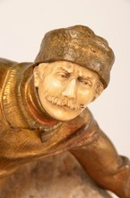 Bronze and Ivory figure of a Russian Cossack.