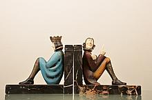 Roland Paris (German;1894-1945) pair of bookends.