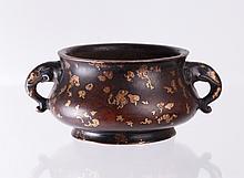 Ming Dynasty Partial Gilt Incense Burner