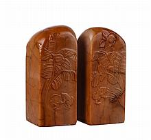 Pair of Chinese 19th C. Soapstone Seals