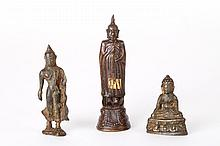 Three Miniature Southern Asian Bronze Buddha