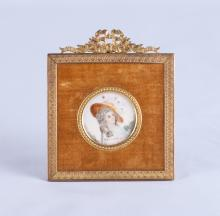 18th C. French Painting w/ Gilt Frame