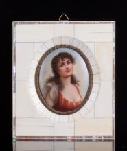 Enamel Painting w/ Frame
