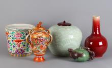5 Pieces Chinese Porcelain Group