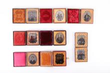 8 Ambrotypes- Portraits of Men, Women, Children