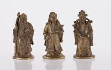 3 Pieces of Chinese Bronze Immortal Figures