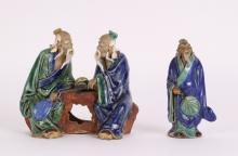2 Pieces Chinese Shiwan Figures