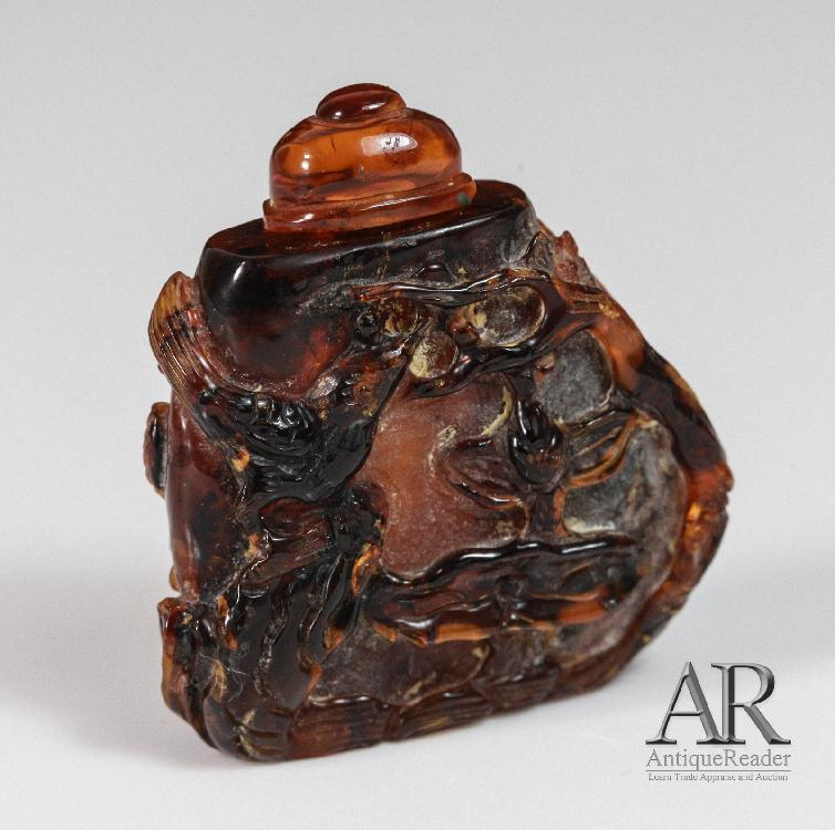 19th C. Amber Snuff Bottle