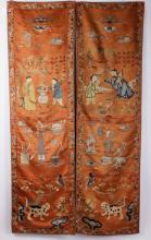 Pair of Chinese 19th C. Embroidery