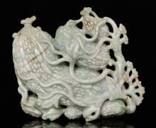 Chinese Jadeite Carved Cabbage