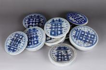 Group of Porcelain Tea Caddy Covers