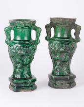 Ming Dynasty Pair of Candle Holder Vase