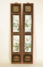 Pair of Chinese Porcelain Screen, Marked