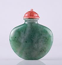 19th C. Chinese Jadeite Snuff Bottle