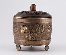 Ming Dynasty Tripod Foot Cooper Censer