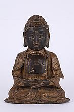 Chinese Gilt Bronze Figure of Seating Buddha