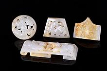 4 Pieces Chinese Jade Sword Set