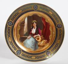 Royal Vienna -  Handpainted Plate