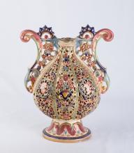 Hungarian Ornate Porcelain Vase