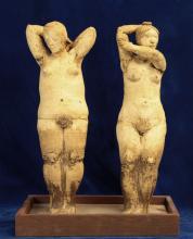 Handmade Terracotta Signed Sculpture