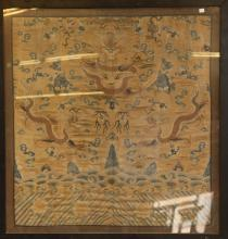 Chinese Embroidery of Dragon w/ Frame