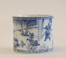 Chinese Blue/White Porcelain Brush Pot