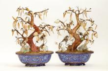 Pair of 18th C. Chinese Cloisonne Jardinieres