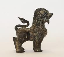 18th C. Thailand Bronze Carving of a Beast