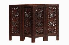 A Wood Carved Table Screen