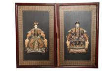Pair of Chinese Emperor Screen