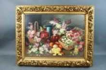 20th C Large Still Life Painting