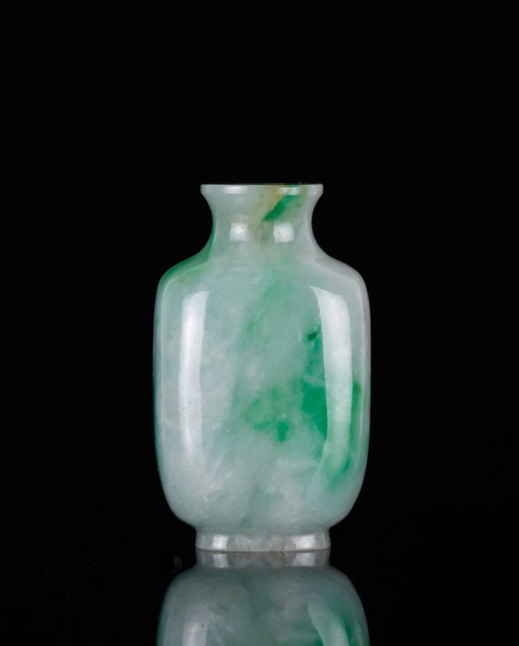 18/19th C. Chines Jadeite Carved Snuff Bottle