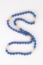 Chinese Lapis Lazuli Beads Necklace