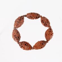 Qing Dynasty Olive Carved Bracelet