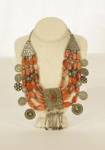 19th C. Agate & Silver Necklace