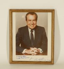 A Picture of President Richard Nison, Signed