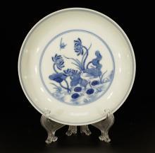 Chinese Porcelain Blue/White Dish