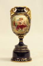 Royal Vienna 19th C. Porcelain Hand Painted Vase