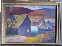 Richard Holberg 1889 - 1947, oil on board