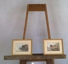 Rolandos Vilkauskas  (1963 - )  Pair of Watercolors