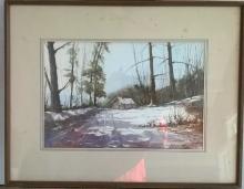 Rolandos Vilkauskas (1963 - ) Rural LandscapeWatercolor