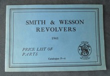 Smith & Wesson Revolvers 1941 Price List of Parts