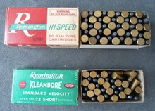 Two Boxes of Remington .22 Caliber Kleanbore