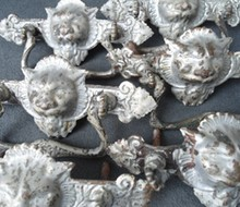 Set of Dresser Pulls with Lion Faces