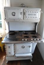 Cast Iron and Enamel Barstow Cook Stove