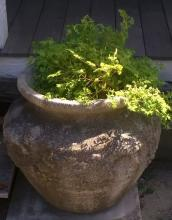 Large Cast Cement Planter