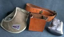 Leather Ammo Pouch and Two Shotgun Pads