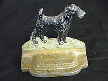 Antique Cast Iron Scttie Dog Book End or Door Stop