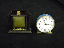 Antique Mini New Haven Mantle Clock w/ Real Gold