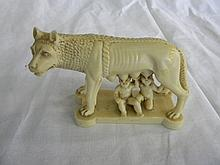 Lupa Capitolina Roman Empire founders & Etruscan Capitoline She-wolf Sculpture